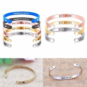 Jewelry - ENGRAVED Inspirational Sayings! ALL COLORS!Variety